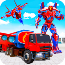 Flying Oil Tanker Robot Truck Transform Robot Game 21 APK Free Download MOD for android