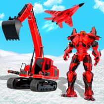 Grand Snow Excavator Robot Transforming Games 8 APK Free Download MOD for android