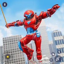 Flying Police Monster Robot Rope Hero: Crime City  APK MOD (Unlimited Money) Download for android