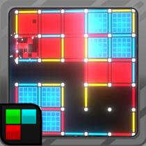Dots and Boxes (Neon) 80s Style Cyber Game Squares  APK MOD (Unlimited Money) Download for android