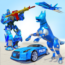 Police Dog Transform Car Robot Shooting Robot Game  APK MOD (Unlimited Money) Download for android