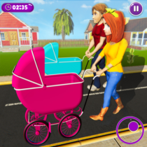 Virtual Mother New Baby Twins Family Simulator  APK MOD (Unlimited Money) Download for android