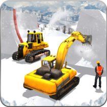 Snow Park Downhill Bulldozer Construction games APK MOD (Unlimited Money) Download for android