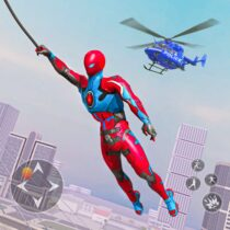 Spider Rope Hero Robot – Vegas Crime City Gangster  APK MOD (Unlimited Money) Download for android